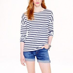 Saint James for Jcrew slouchy stripe tee